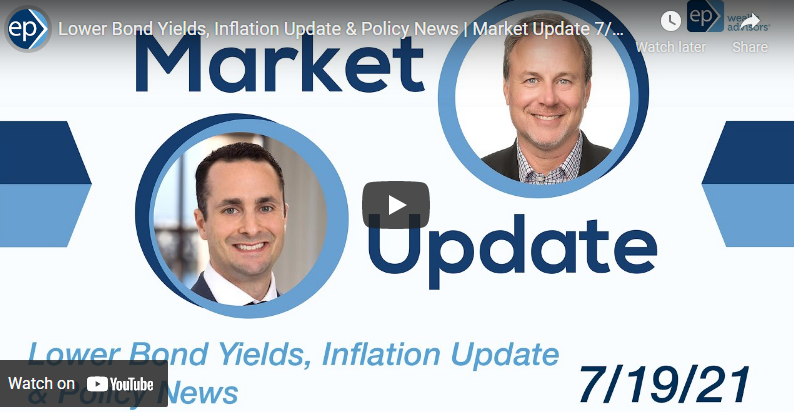 Lower Bond Yields, Inflation Update & Policy News | Market Update 7/19/21