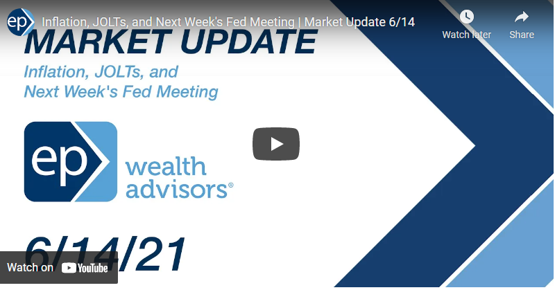 Inflation, JOLTs, and Next Week's Fed Meeting | Market Update 6/14/21