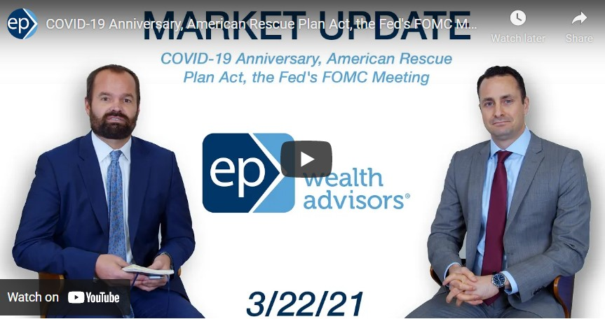 COVID-19 Anniversary, American Rescue Plan Act, the Fed's FOMC Meeting | Market Update 3/22/21
