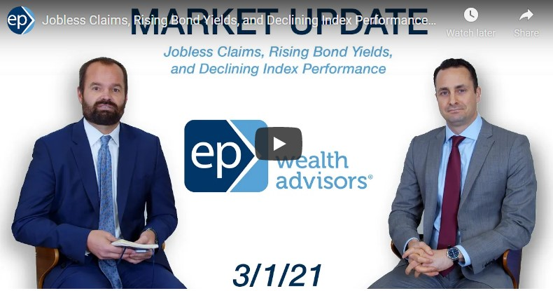 Jobless Claims, Rising Bond Yields, and Declining Index Performance | Market Update 3/1/21